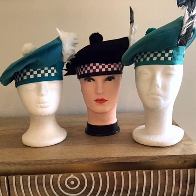 Made to measure highland dance hats